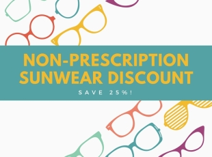 25% off Non-Prescription Sunglasses