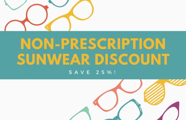 25% off Non-Prescription Sunglasses