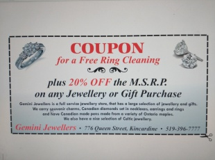 Gemini Jewellers - Discount Coupon