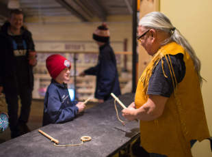 First Nations Cultural Demonstration Counter