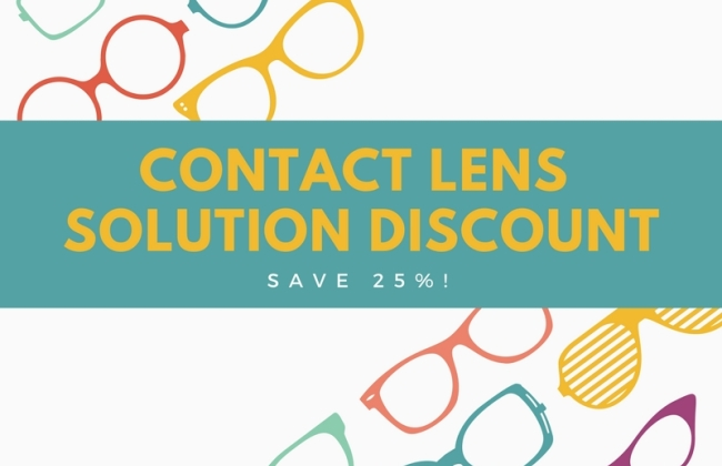 25% off Contact Lens Solution