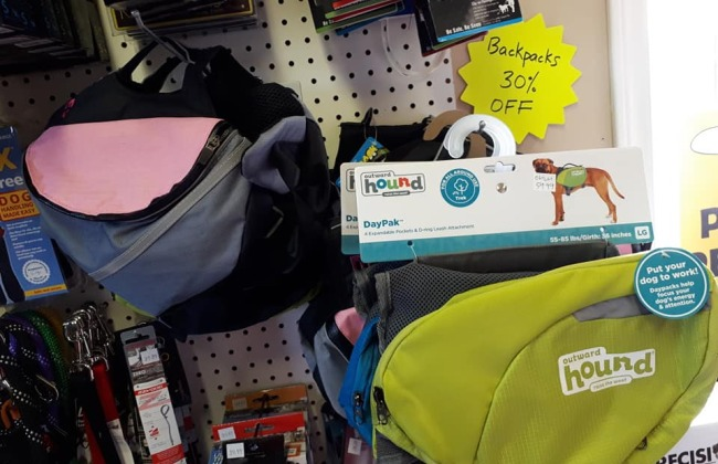 30% Off All Doggy Backpacks