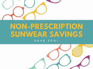 SAVE 25% off Non-Prescription Suns
