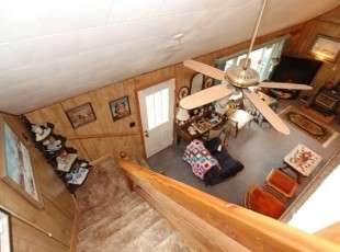 Cottage stairs - previous owner photos