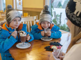 Enjoying a delicious cup of Hot Chocolate