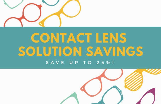 SAVE 25% off Contact Lens Solution