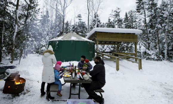 Winter Glamping at MacGregor Point Provincial Park