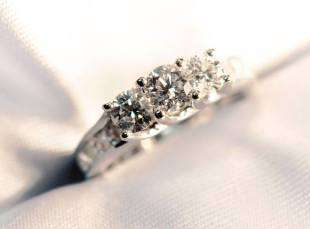 When purchasing a beautiful diamond engagement ring we will size it in store while you wait!