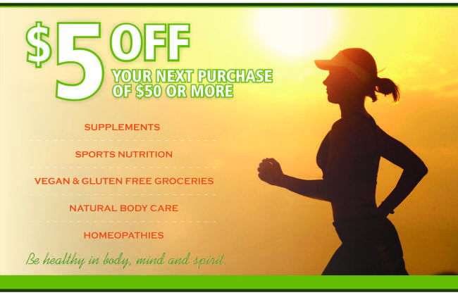 Save $5 off your next puchase of $50